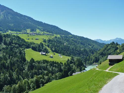 na de Lechelhütte zien we de Stausee eens van bovenaf