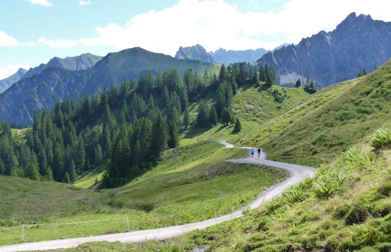 vanaf de Alpe wijken we af van de uitgezette route naar de Glattmar