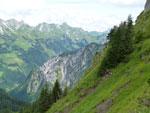 200m klimmen naar het kleine topje van de Glattmar
