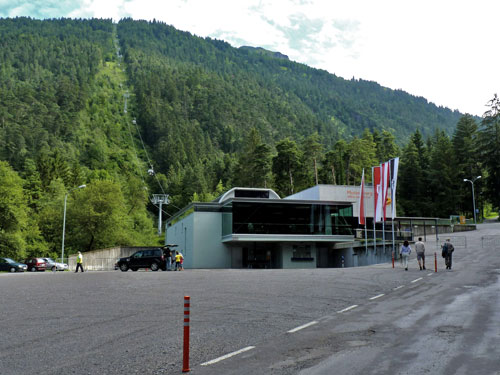 Dalstation Muttersbergbahn bij Bludenz