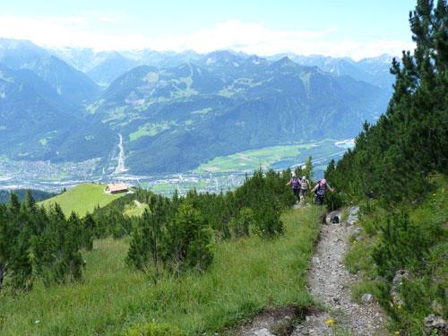 we klimmen steeds verder boven de Frassenhütte uit