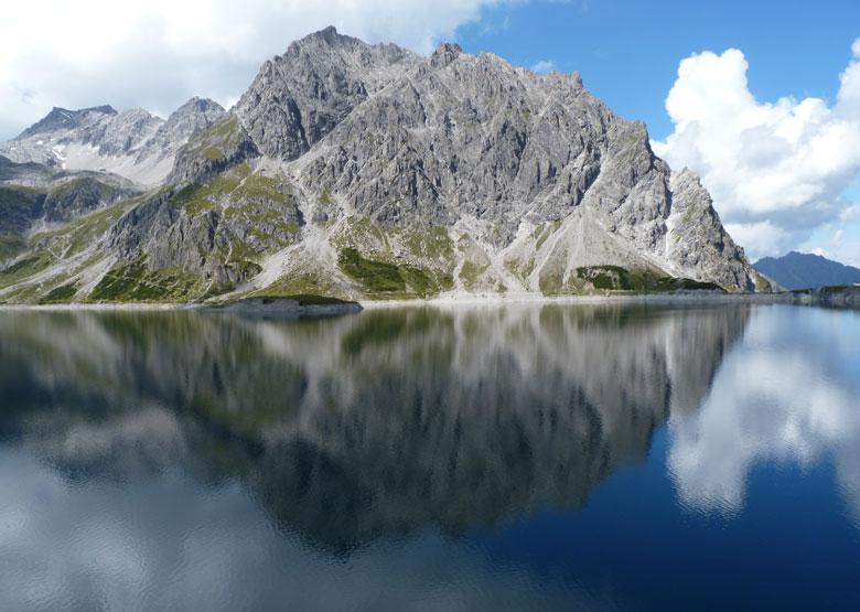prachtige weerspiegeling van de Seekopf