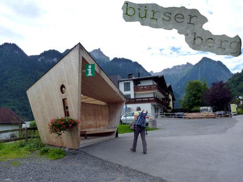 Bürserberg informatiecentrum en bushalte