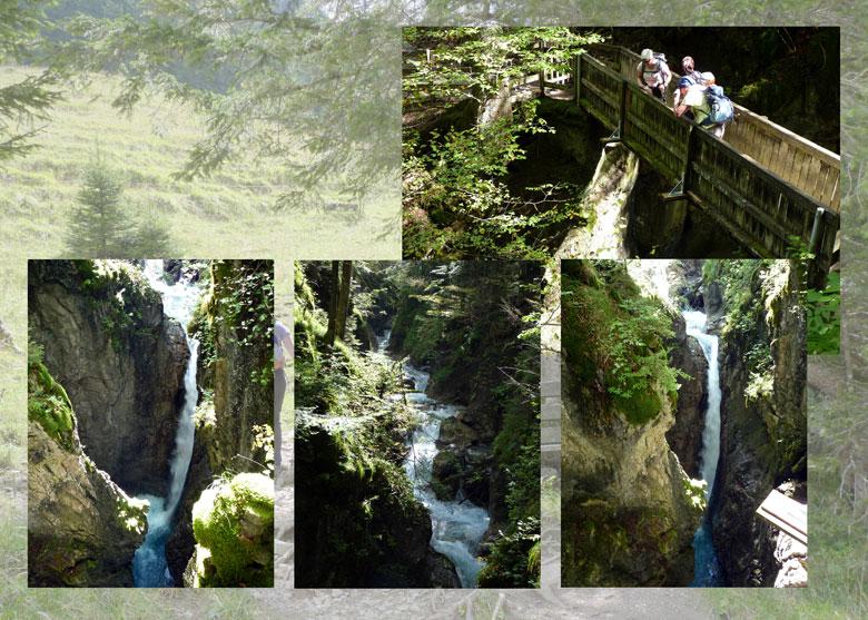 Kesselfall, de Alvierbach door een smalle diepe kloof