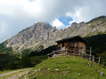 onderweg van het Berghaus naar de Innerpalüdalpe