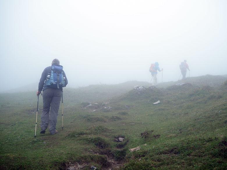 de Alm is zelfs met mist mooi om overheen te trekken