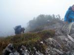 het bergpaadje naar de top van de Mondspitze