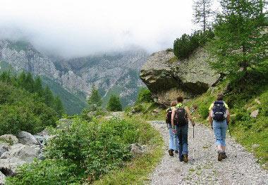 Wandelen tot de Ingridhütte
