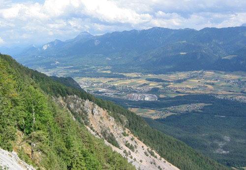 Uitzicht in het Gailtal
