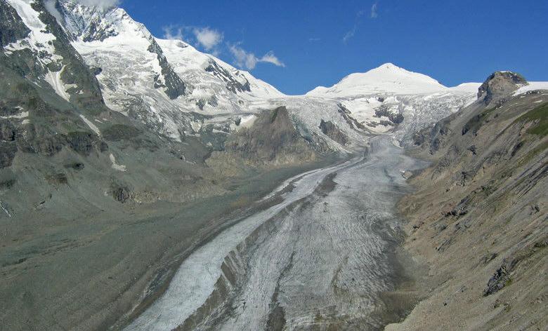 Grossglockner met de Pasterze gletsjer.
