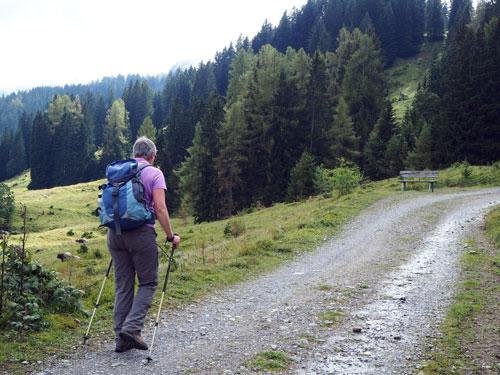 de Winterwanderweg boven Bürserberg