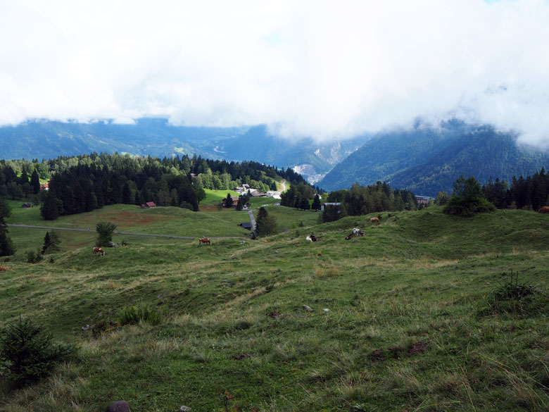 uitzicht over de Ronaalpe