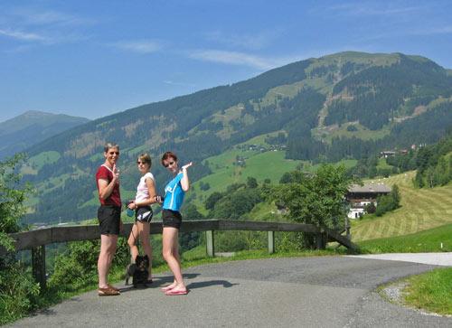 Parkeerplaats op Pass Thurn