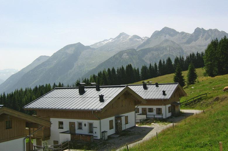 Een verlaten ski-dorp op de Gerlospass