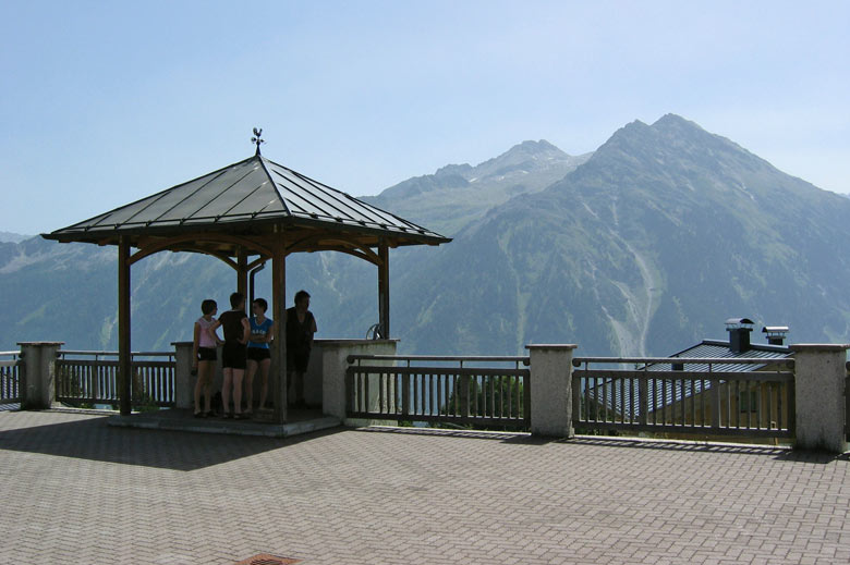 Uitzicht op de Zillertaler Alpen