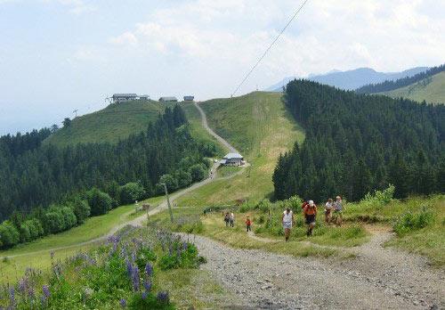 de weg tussen de twee toppen