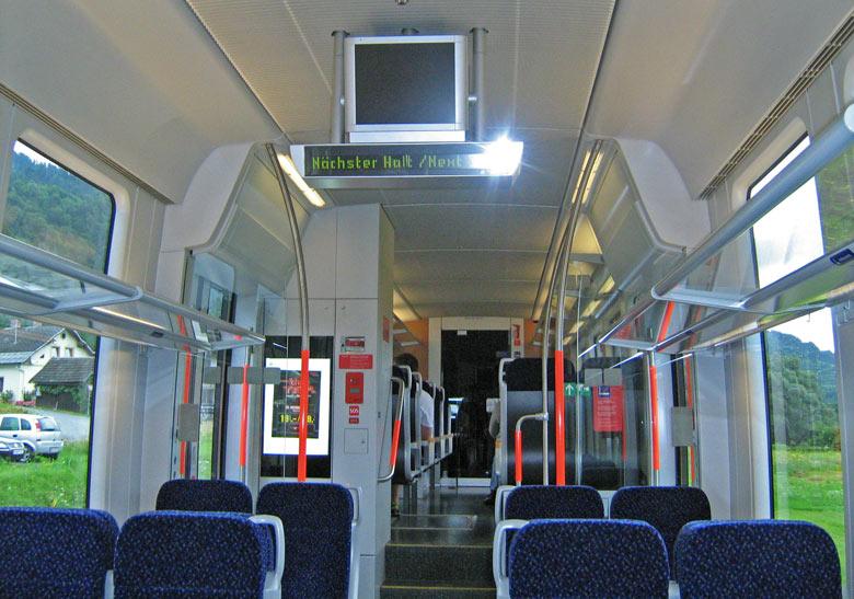 De trein in het Gailtal