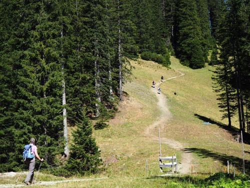 verder klimmen naar de Loischkopf