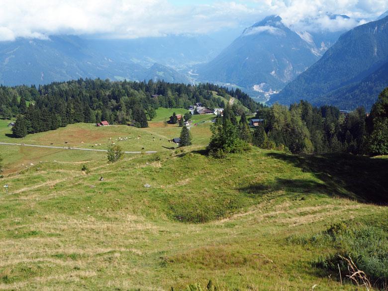 uitzicht over Tschengla en de Ronaalpe