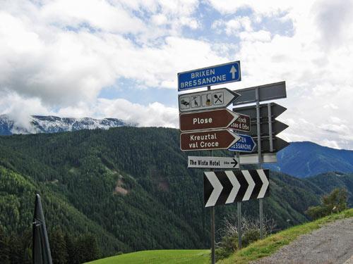 We verlaten de Würzjoch langs de andere zijde over Brixen