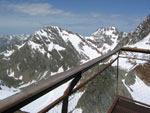 Gipfelplattform, het uitzichtpunt boven de Schaufelferner Gletscher