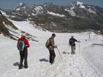 Gletsjer wandeling omlaag naar de Eisgrat
