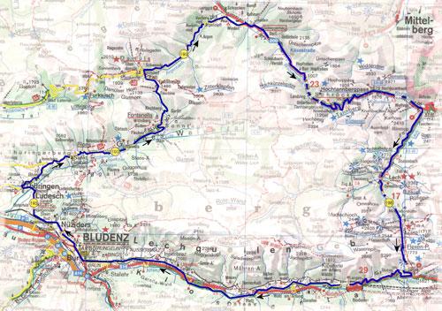 routekaart Vorarlberg