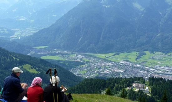 prachtig uitzicht op Bludenz