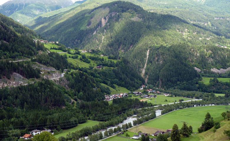 uitzicht onderweg voor Lienz