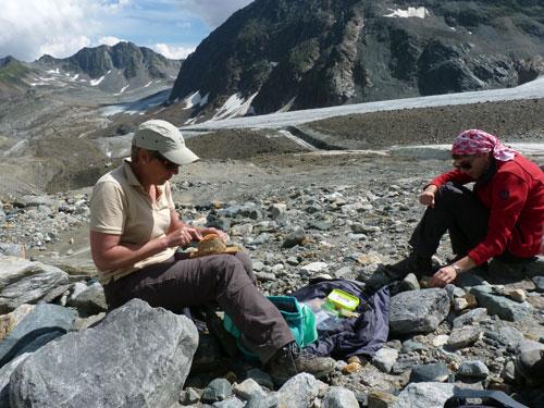 picknick aan de rand van het ijs