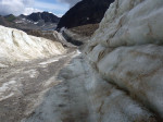 op de ijsweg over de Mittelbergferner