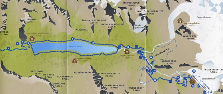 kaart Kaunertal