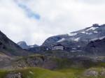 de Umbrail Pass, grensovergang Zwiterland Italië