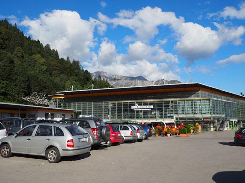 het dalstation van de Golmerbahn