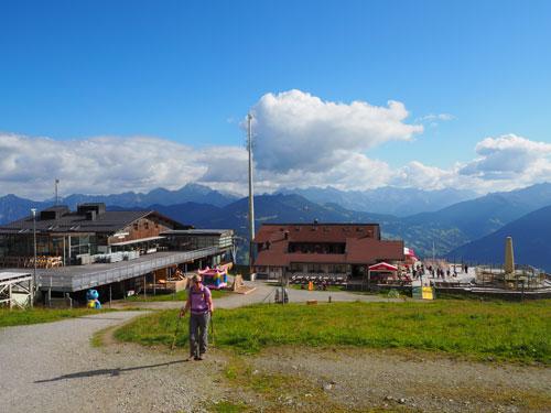 omhoog vanaf het Berghof Golm