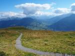 de Golmer Höhenweg naar de Golmer Joch