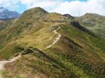 de Kammweg van de Golmer Joch naar de Latschätzkopf