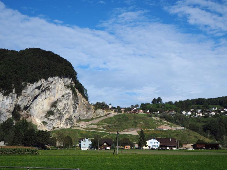 een opvallende rotswand bij Oberriet