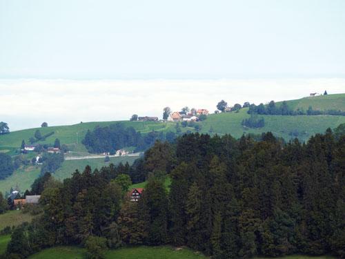 de Bodensee onder de wolken