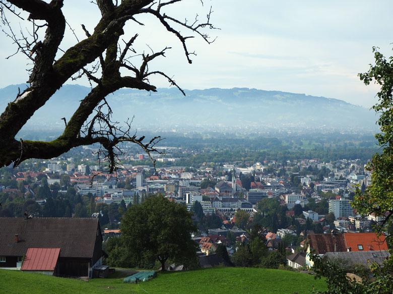 uitzicht over de stad Dornbirn