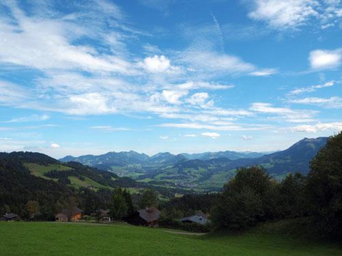 het Bregenzerwald is vooral groen