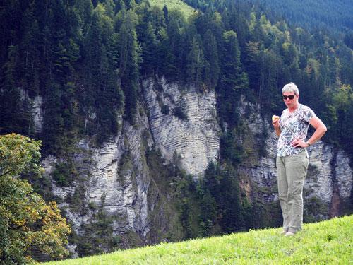 rotswand tussen Au en Damüls
