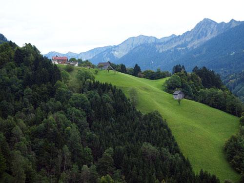 bergen en bossen bij Laterns
