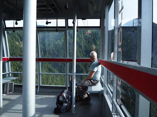in de Panoramabahn naar Burtscha