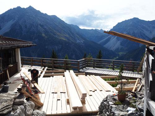 het terras bij de Niggenkopf moet winterklaar