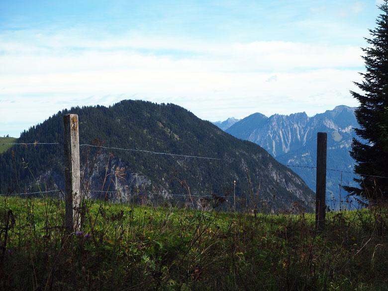 klimmen met uitzicht op de Brandnertal omgeving