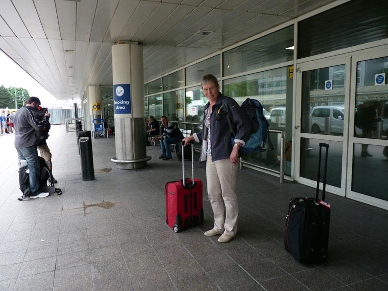 aankomst Glasgow airport