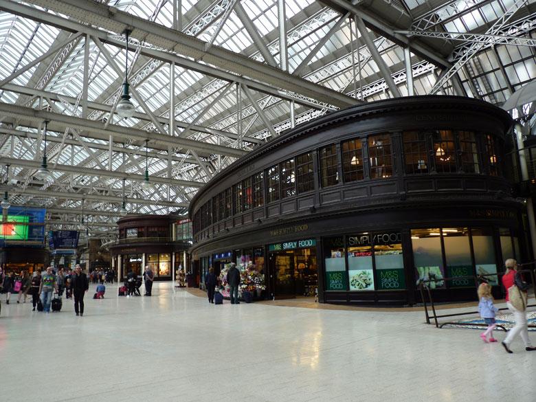 het mooie Central Station Glasgow