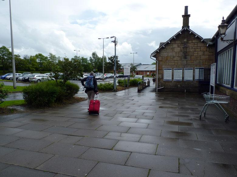 het regent bij Milngavie Station