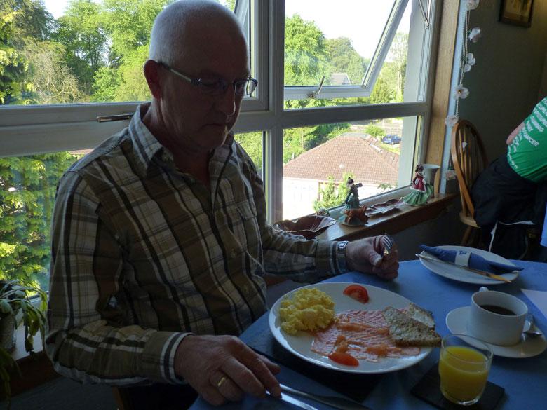 Schots ontbijt met Zalm en roerei